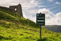 Dryslwyn slott, Carmarthenshire, Dyfed, Wales, UK Arkivfoto