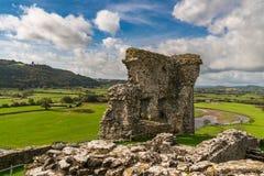 Dryslwyn slott, Carmarthenshire, Dyfed, Wales, UK Royaltyfria Foton