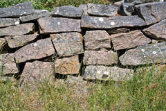 Drystone fence wall Royalty Free Stock Image