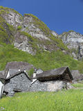 Drystone houses in Ticino Stock Photos