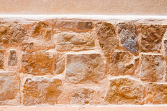Drystone wall background texture Stock Image