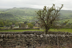 Drystone Wall, Baslow Stock Images