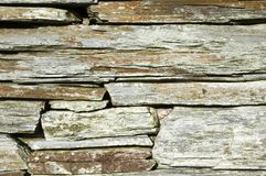 Drystone wall detail. Detailed close up of a drystone wall Stock Images