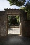 Drystone Wall Door Portal Exterior Stock Image