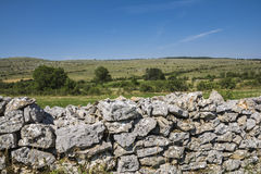 Drystone wall Stock Photo