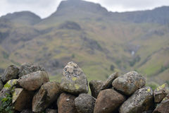 Drystone wall in Great Langdale Stock Photo