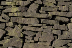 Drystone Wall (Gritstone). Texture - Drystone walling as found in the Gritstone areas of the Peak District National Park Royalty Free Stock Photos