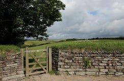 Drystone Wand, Cornwall, Großbritannien Stockfotos