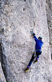 Drytool climbing in Costila royalty free stock image