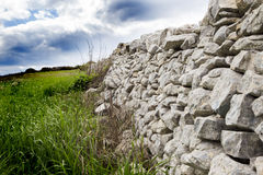 Drywall and countryside of Ragusa Royalty Free Stock Image