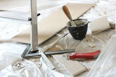 Drywall installation Royalty Free Stock Image