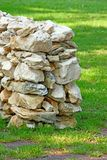 Drywall in the meadow. Drywall, wall built up with natural stones in the meadow Royalty Free Stock Photography