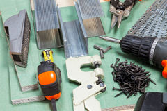 Drywall narzędzia ustawiający obraz stock