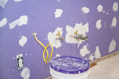 Drywall Newly Installed Royalty Free Stock Photos