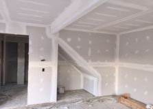 Drywall Installation Project Royalty Free Stock Image