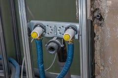 Drywall rama z wodną instalacją obrazy royalty free