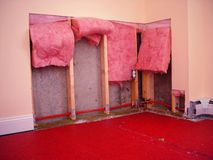 Drywall reparatie Stock Foto's