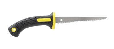Drywall saw. Aka keyhole saw isolated on white Royalty Free Stock Image