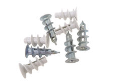 Drywall screw anchor Stock Photos