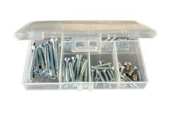 Drywall screws kit. Drywall screws various size kit Royalty Free Stock Photos