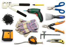 Drywall tools isolated Royalty Free Stock Image