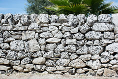 Drywall, typical of the Sicilian countryside. Royalty Free Stock Images