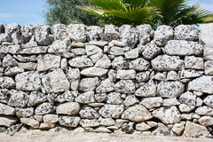 Drywall, typical of the Sicilian countryside. Royalty Free Stock Photo