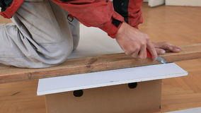 Drywaller work stock video