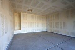 Drywallkonstruktion av ett garage Royaltyfria Bilder