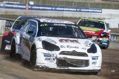 Drzał Kristoffersen Barcelona FIA świat Rallycross Obrazy Royalty Free