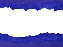 drzejący błękitny papier Zdjęcie Stock