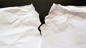 drzejący papierowy prześcieradło Zdjęcia Stock