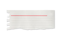 Drzejący prążkowani papierowi kawałki, odosobneni Obraz Stock