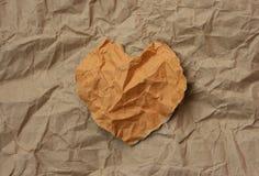 drzejący serce papier Obrazy Stock