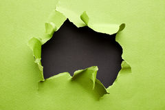 drzejący zielony papier zdjęcie stock
