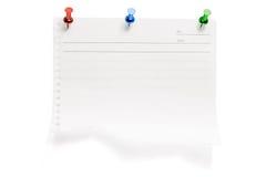 drzejący papierowi pushpins Fotografia Stock