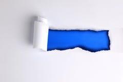 drzejący papierowy prześcieradło Zdjęcie Stock