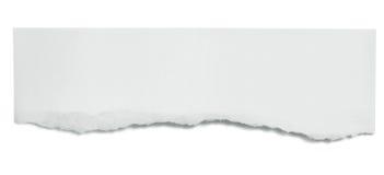 drzejący sztandaru papier Zdjęcia Stock
