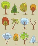 drzewa ilustracja wektor