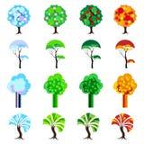 Drzewa Cztery sezonu Royalty Ilustracja