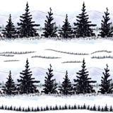 Drzewa i góry royalty ilustracja