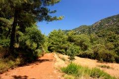 Drzewa i góry zbliżać Icmeler Obraz Stock
