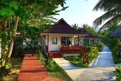 Drzewa i, Phra Ae plaża, Ko Lanta, Tajlandia Zdjęcia Stock