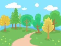 Drzewa, kwiaty i morze Obrazy Stock