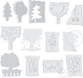 Drzewa na papierach Obraz Royalty Free