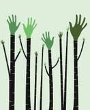 Podnosić ręki royalty ilustracja