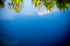 Drzewa odbicie w rzece Obrazy Royalty Free