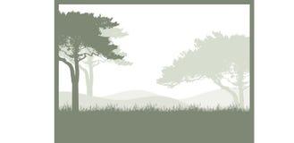 Drzewa tło Obrazy Royalty Free