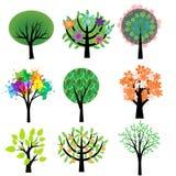 Drzewa ustawiający Obraz Royalty Free