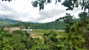 Drzewa w hydroelektrycznej elektrowni Obraz Stock